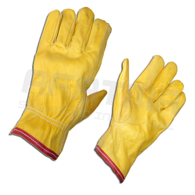 Guante argonero piel de res guantes para vidrio y for Guantes de piel madrid
